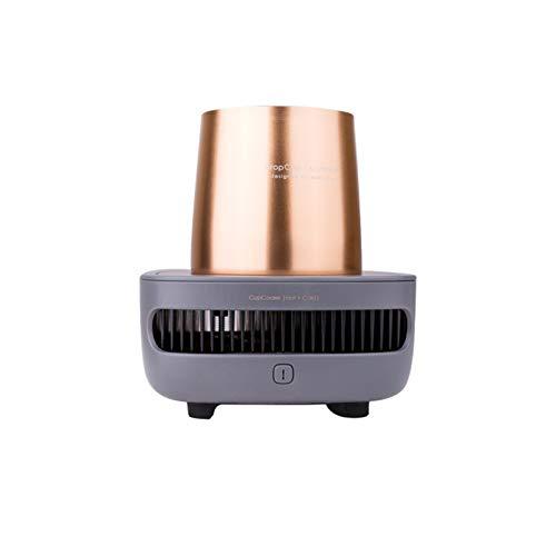 Calentador De Leche Inteligente, Calentador De Tazas De Café, Enfriador De Tazas Rápido De Refrigeración Portátil, 12V / 3A, Mini Refrigerador De Oficina, Control De Un Botón,Oro