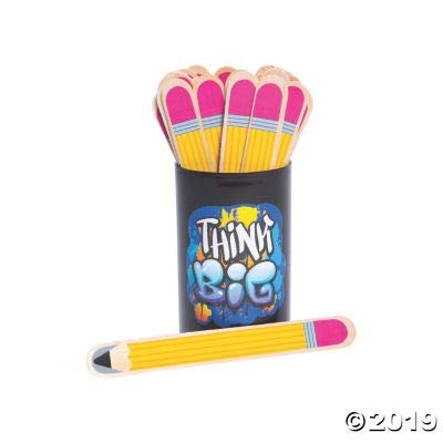 Fun Express Pencil Flip Name Sticks - 36 Pieces - Educational and Learning Activities for Kids