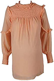 M4M Fashion Maternity Blouses For Women - Orange - Large