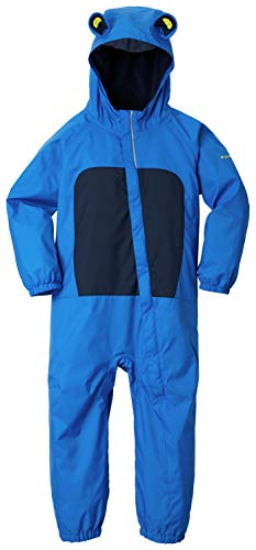 Columbia Youth Infant Kitteribbit Rain Suit, Waterproof & Breathable , Super Blue/collegiate Navy , 12/18