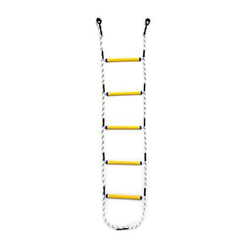 Aoneky Escalera de Cuerda para Escalada - Longitud de 2M, 6 Peldaños, Soporta 450KG, Juguete de Escalar para Niños Adultos, Red de Poliéster para Uso Interior Exterior