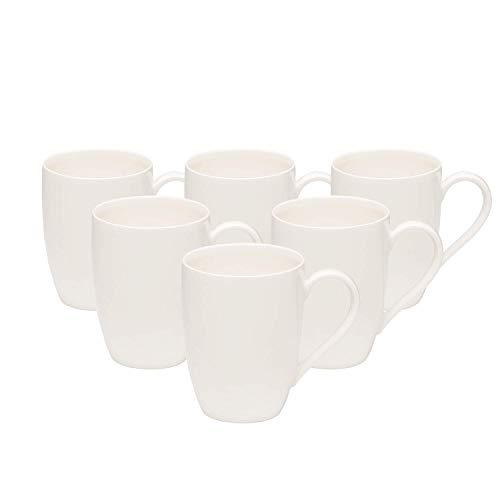 vivo by Villeroy und Boch Group - Basic White Kaffeetassen-Set, 6 tlg., 300 ml, Premium Porzellan, spülmaschinen-, mikrowellengeeignet, weiß