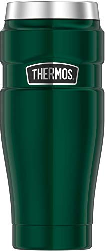 THERMOS Stainless King Travel Tumbler, 16 Ounce, Pine Green