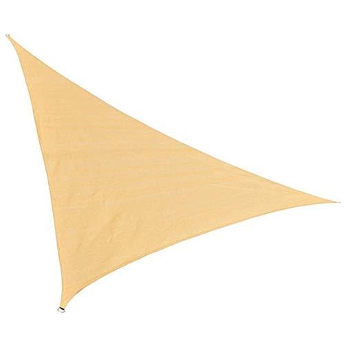 ZXL schaduw doek Driehoek Schaduw Zonnescherm voor Patio Tuin Terras Meerdere maten, Aanpasbaar (Kleur: Beige, Maat : 2.6x2.6x2.6m) 4.6x4.6x4.6m Beige