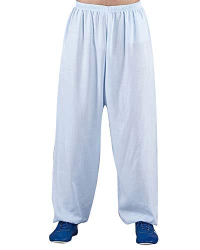 Pantalones De Yoga Bombachos Sudor De Corredores Tai Chi Modales Sueltos para Hombres Y Mujeres Zarco M