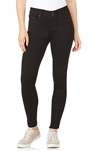WallFlower Women's InstaSoft Ultra Fit Skinny Jeans, Black, 0