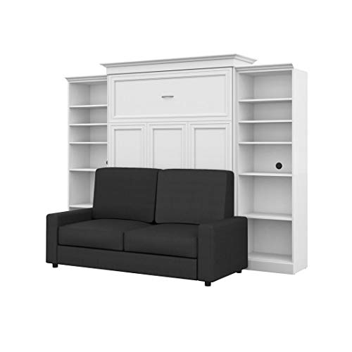 """Bestar, Versatile Collection, Queen Murphy Bed, Two Storage Units and a Sofa (115"""")"""