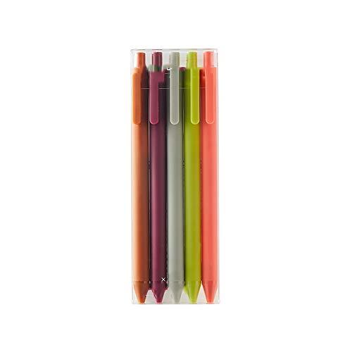 Lihgfw Libro de Consulta Retro Color Neutral de la Pluma 5 Soft Pegamento Pintura de Aerosol de Mano Cortina Estilo Antiguo, Macaron, Firma Color Rural Pluma Oficina de Carbono Pen (Color : C)