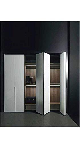 Kit de herramientas correderas para puertas de muebles, armarios, guardarropa plegable con nueva opción Soft. Riel de 3 metros – Hasta 50 kg (bisagras amortiguadas, 2 puertas)