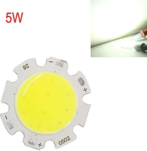 3W/5W/7W/10W Und Cob LED Chip Integrado Lámpara Fuente para Vdeo Cámara Super Bright Lámpara Cuentas Blanco/Blanco Cálido (10WWarm Blanco) - Blanco, 5w