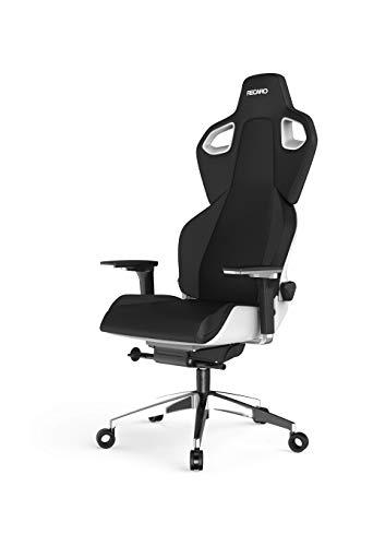 RECARO Exo Platinum Gaming Chair - ergonomischer, höhenverstellbarer Gaming Seat der Extraklasse- Black & White