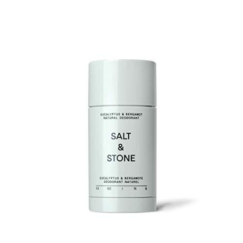 Salt & Stone - Natural Deodorant Nº 2 - Eucalyptus & Bergamot - Unisex, Vegan, Gluten Free, Cruelty Free, Aluminum Free, Free of Parabens & Sulfates, Senstive Skin, Baking Soda Free