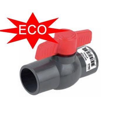 AquaForte PVC Kugelhahn, ohne Überwurf, 50 mm