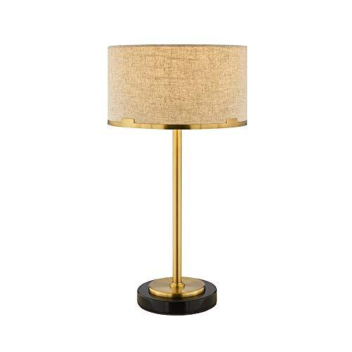 DEPAOSHJ Socle en marbre Simple lumière lampe de table de luxe, lampe de chevet chambre créative chaude lampe de table deux pièces, post-moderne salon décoratif lampe de lecture (Color : One set)