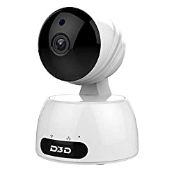 D3D Full HD CCTV 2MP (1920x1080) P Alexa WiFi Wireless IP Home Security Camera CCTV (Supports Upto 128 GB SD Card) [Model-829] White Camera (White),D3D Security PVT LTD,829