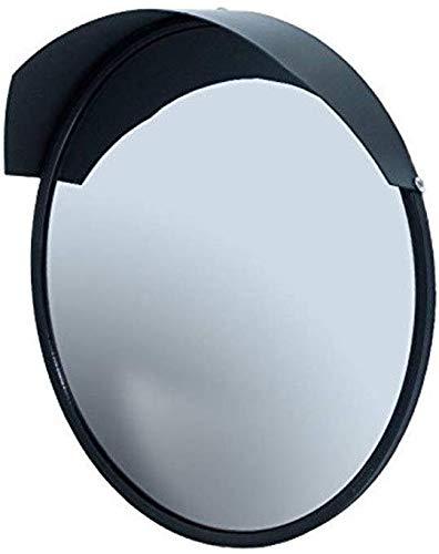 Hfyg Traffic Spiegel Zwart Sferische Veiligheid Spiegels, Ronde 45CM Convex Spiegel Duurzame Onbreekbare Verkeer Spiegel voor Indoor Outdoor 45CM