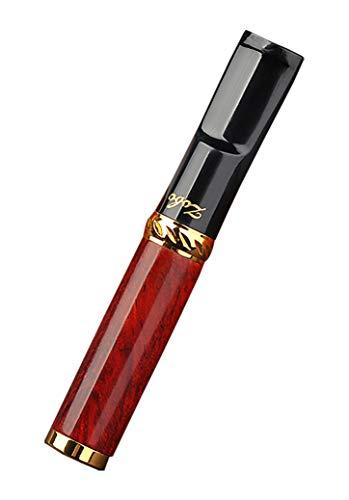 CaLeQi Porte-Cigarette En Métal Pour Cigarettes De Taille Normale Ø8mm Et Slim Cigarettes Ø6mm (Bois de santal rouge)