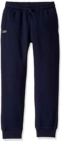Lacoste Big Boys' Sport Fleece Jogger Sweatpants, Navy Blue, 8YR
