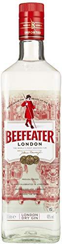 Beefeater London Dry Gin – Edler und hochwertiger Premium-Wacholderschnaps, nach London Dry Gin-Art hergestellt – 1 x 1 L – 40% Vol.