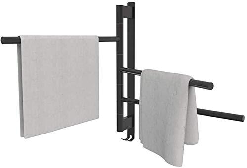 HXCD Rieles de toallero con calefacción Calentadores de Toallas eléctricos, 180 & deg;Rotación Automática Temperatura Constante 48-52 ° C Impermeable No es Necesario Ajustar la Temperatura Monta
