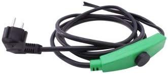 Cerres Frostschutz Heizkabel Mit Knopf-Thermostat, Pflanzen-Heizung, 1m 2m 4m 8m 12m 14m 24m 36m 48m, 230V, wasserdichte Heizleitung für Rohre und…