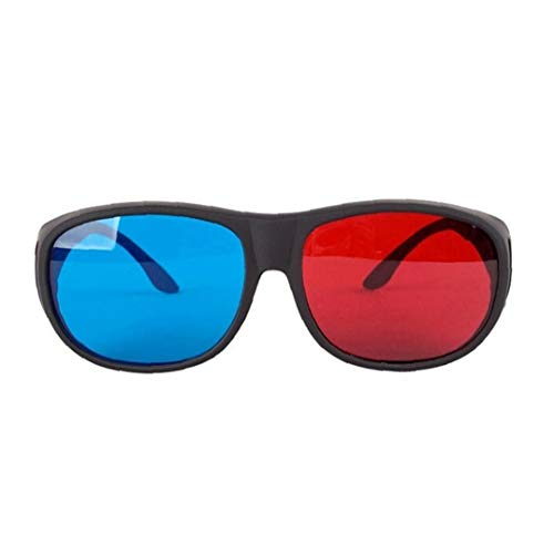 Red-Blue 3D Glasses Cyan Anaglyph Simple Style 3D Glasses Stereo Movie Game-Extra Upgrade Style for Men Women Electronic Accessories