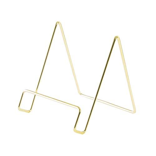 Geometrische Buchstützen Aufbewahrungsregal, einfaches Schmiedeeisen, Bücherständer, Bücherstützen für Regale, Buchstopper, für Zuhause oder Büro gold