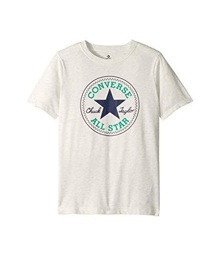 Converse - Camiseta para niño Chuck Patch Tee Blanco Abedul Heather S