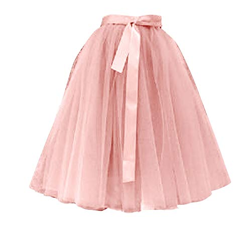 Falda tutu para nia de tul, tut, falda, para danza y fiesta beige Talla nica