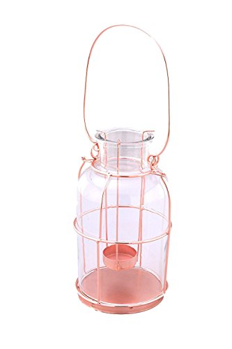 Alchemade Glass with Copper Accent Votive Tea Light Candle Holder Lantern - by