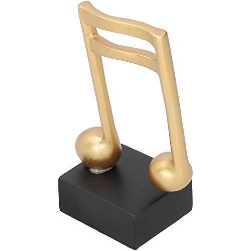 KUIDAMOS Retro Gold auf der Außenseite Musik Note Figur 17,3 x 4,9 x 5,8 cm für Liveroom Desktop Dekoration Ornamente