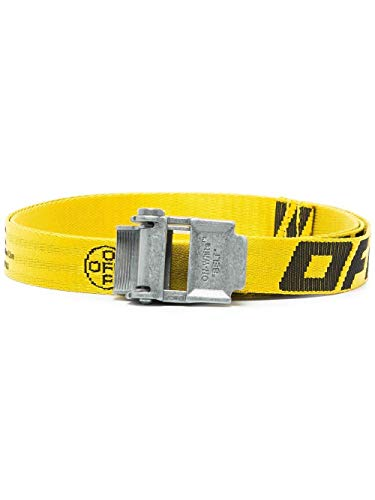 Luxe mode | Off-White Mens OMRB036R20F420356010 gele riem |