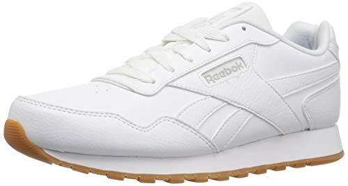 Reebok mens Classic Harman Run Casual Sneakers, White/Gum, 10.5 US
