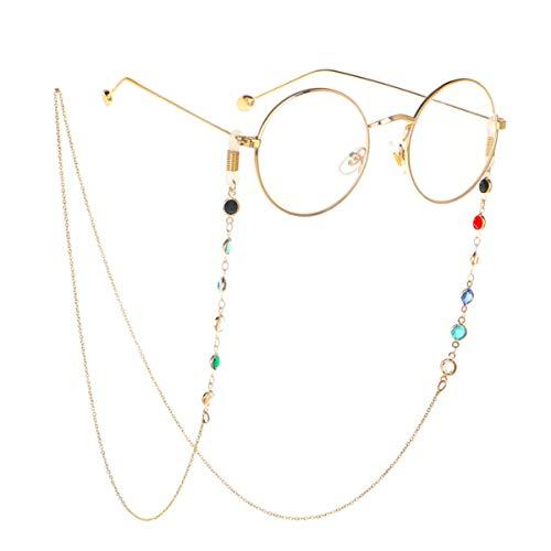 めがねチェーン エレガント 眼鏡 チェーン グラスコード メガネチェーン 男女兼用 (ゴールド)