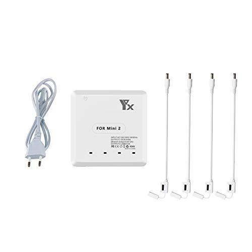 Yangers Caricatore multiplo per DJI Mavic Mini 2 (non compatibile con Mavic Mini), stazione di ricarica parallela Rapid Balance Dock Station per batterie aeree, controller, telefono, tablet