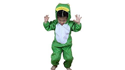 Niños Disfraces de Animales Niños Niñas Unisex Disfraces Cosplay Niños Onesie (Rana, M (para niños de 90 a 105 cm de Altura))