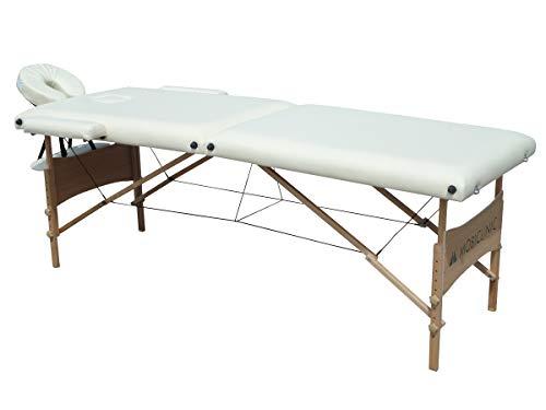 Mobiclinic, Light, Camilla fisioterapia plegable, Cama de Masaje, Reposacabezas, Masaje, Portátil, Madera, 186x60 cm, Crema
