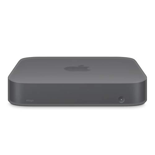 Capa de silicone elago Mac Mini – [resistente a choques] [de longa duração] [design recortado] – para Mac Mini 2018, Dark Gray Translucent