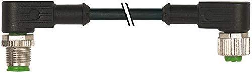 M12 Stecker gew. auf M12 Buchse gew.