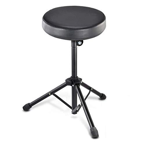 JJOnlinestore- Taburete para bateristas, música y grupo de rock, asiento acolchado, negro