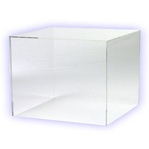 HOKU Holzhäuser Kunststofftechnik Acrylwürfel in. Grösse : 25cm x 25cm x 25cm Box, Acryl/Plexiglas, 5 transparente Seiten, klar (25 x 25 x 25cm)