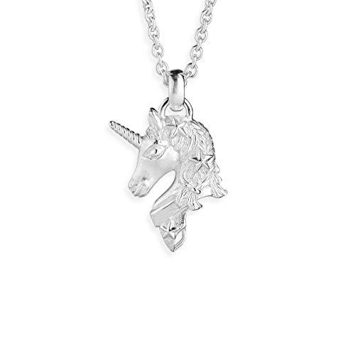 Drachenfels Einhorn-Anhänger in Echtsilber   Kollektion Sternenglanz & Schattentanz   Bezaubernder Anhänger für Halskette aus 925 Sterling Silber