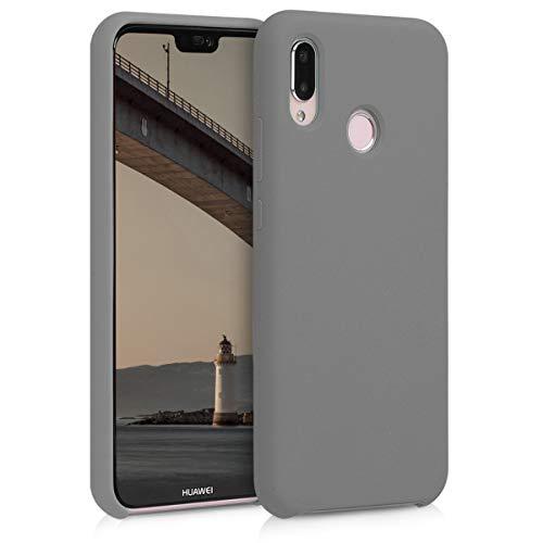 kwmobile Cover Compatibile con Huawei P20 Lite - Cover Custodia in Silicone TPU - Back Case Protezione Cellulare Grigio Metallizzato