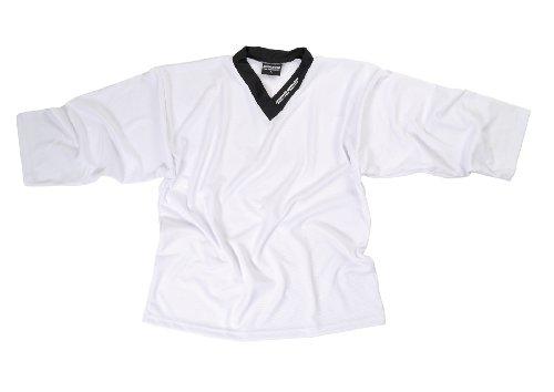 SHER-WOOD - Eishockey Trainingstrikot für Erwachsene I stilvolles Practice Jersey aus gelochtem, Weiß, Gr. XL