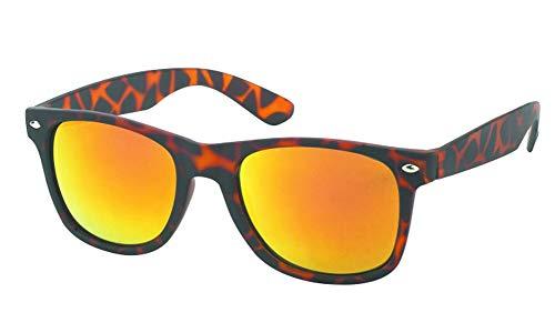 Chic-Net Animal Print Gafas de sol 400 UV Nerd Wayfarer naranja reflectante