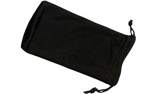 Plain Black Microfibre EyeglassesSunglasses Drawstring Pouch Single