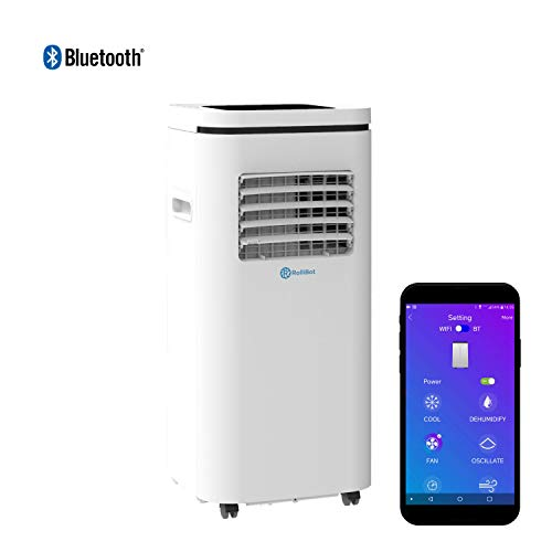 RolliCool Alexa-Enabled Portable Air Conditioner 14,000 BTU AC Unit with Heater, Dehumidifier, Fan, Mobile App (COOL100H-19)