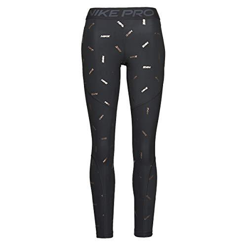 Nike Damen W Np Tight Toss Print Leggings, Black/Dark Smoke Grey, XS
