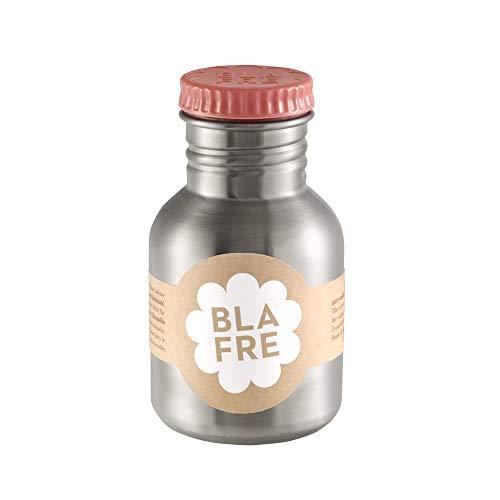 Blafre - Edelstahl-Trinkflasche aus recyceltem Stahl, 300 ml, Pink – klassisches Design und eine super Möglichkeit, um Wegwerf zu vermeiden.