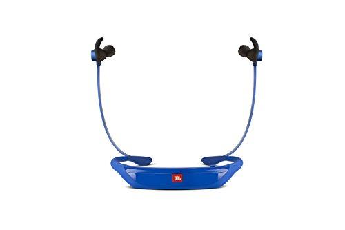 JBL Reflect Response Drahtlose Bluetooth Sport-Kopfhörer mit Berührungssteuerung und Mikrofon Schweißabweisend Ergonomisch mit Reflektivem Kabel Kompatibel mit Apple iOS und Android Geräten - Blau